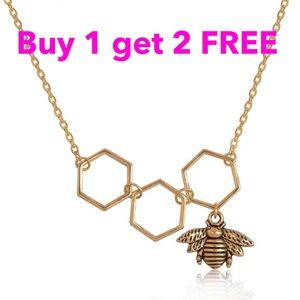 Jewelry - Honeycomb bee necklace neck52